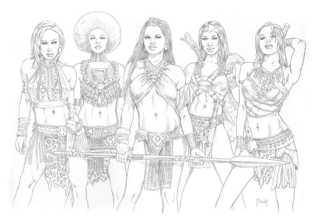 Queens of Nubinora Pencil by MitchFoust
