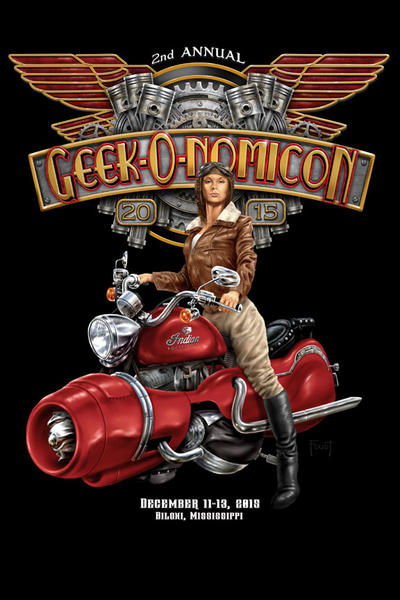 Geek-O-nomicon 2015 T-shirt by MitchFoust