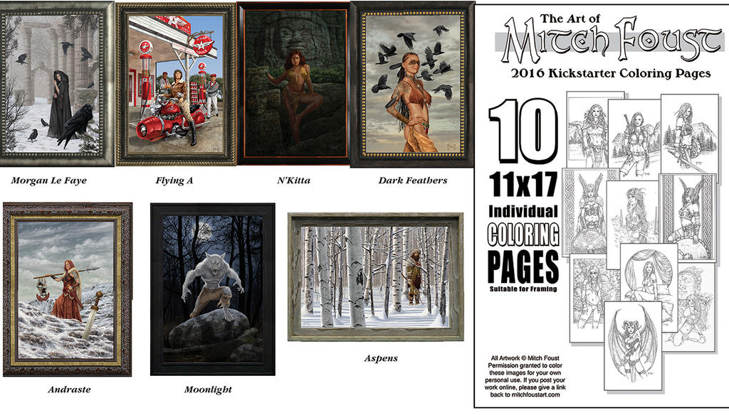 Limited Edition Canvas Prints and Coloring Sheets by MitchFoust