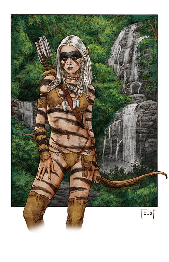WIld Elf Hunter by MitchFoust
