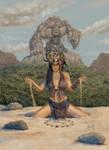 Summoning Earth Elemental Priestess