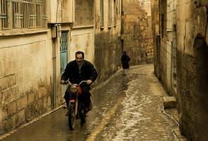 a wet Urfa street by fotoizzet