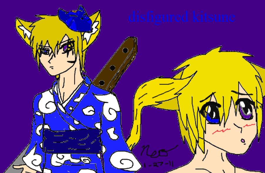 The Disfigured Kitsune by PrinceNeoShnieder