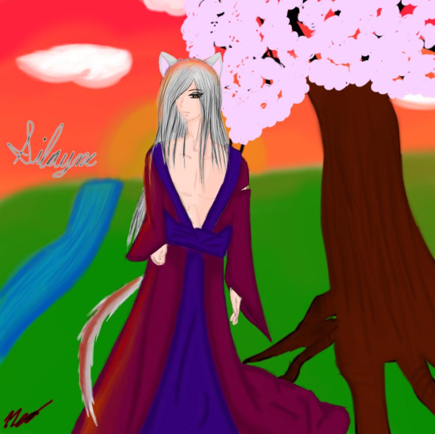The Neko Under the Sakura Tree by PrinceNeoShnieder