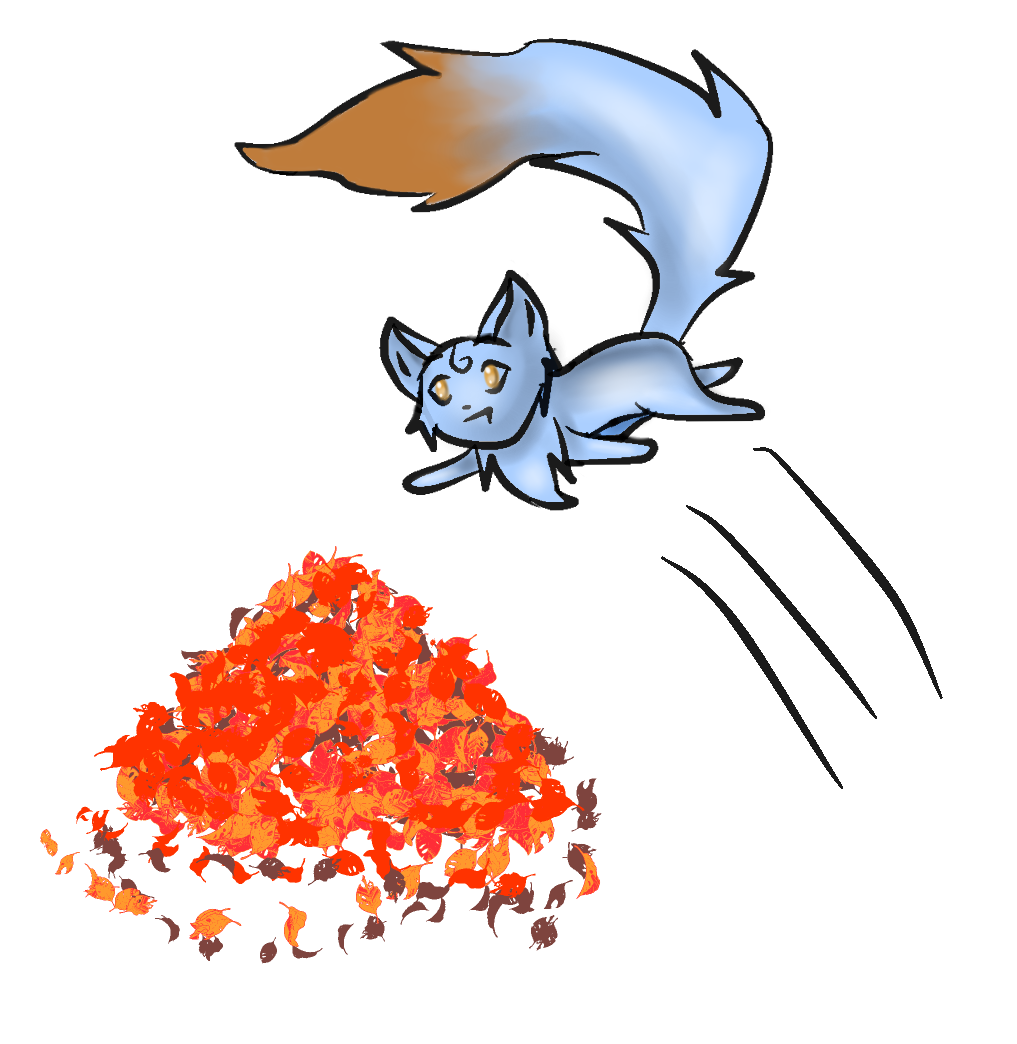 Fox in Leaves by PrinceNeoShnieder