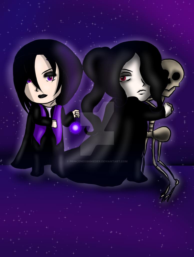 Chibis Lux and Willow by PrinceNeoShnieder