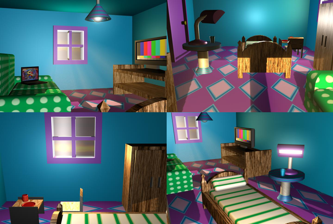 Blue and purple room by stareon on deviantart for Blue green purple room