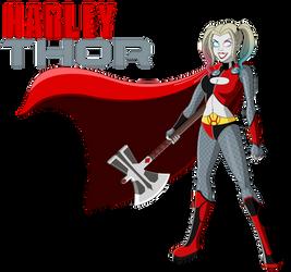 Harley Quinn as Thor