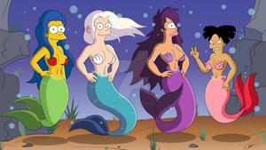 The Little Mermaids - finn1593 Commission