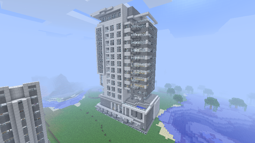 Minecraft Modern Apartment Building modern apartment building