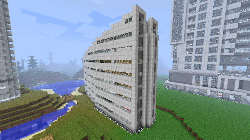 minecraft modern buildings modern apartment building