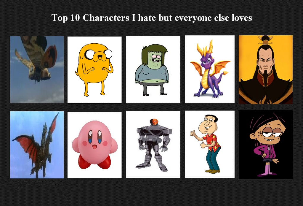 Top Characters I Hate But Everyone Else Loves