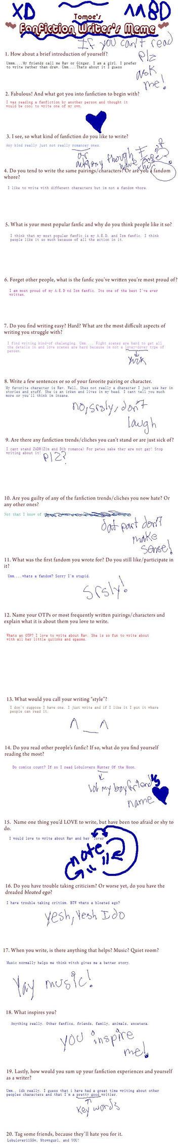 Writers Meme by girrules3454