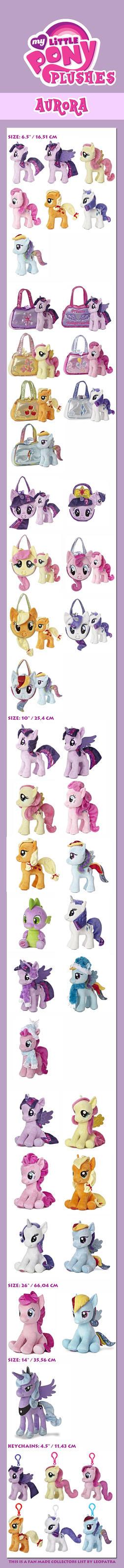 MLP FiM - My little Pony - Aurora Plush List by leopatra-lionfur