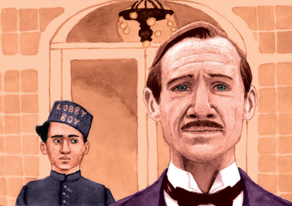 Mixed Media Commission, The Grand Budapest Hotel by EmiAlvarez