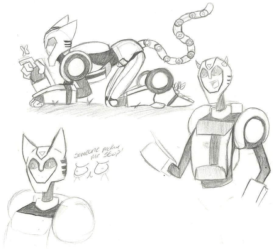 TFA: Bumblebee Sketches 2 by outlandish-anatomy on DeviantArt