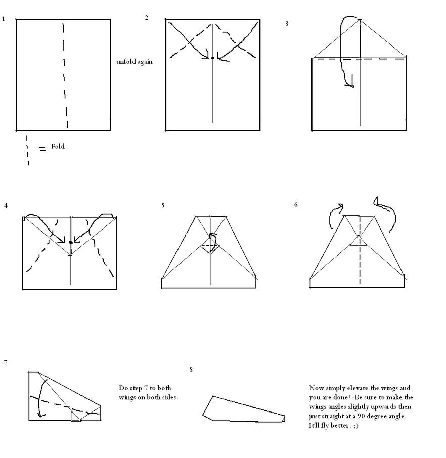 Paper airplane tutorial by halo angel on deviantart for How to make a paper design