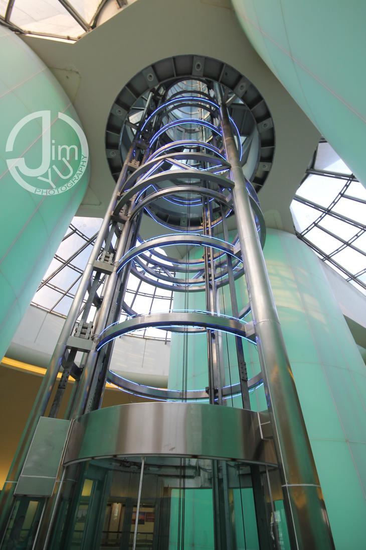 Nice!!! Delta Scenic Holeless Hydraulic Elevators @ CN
