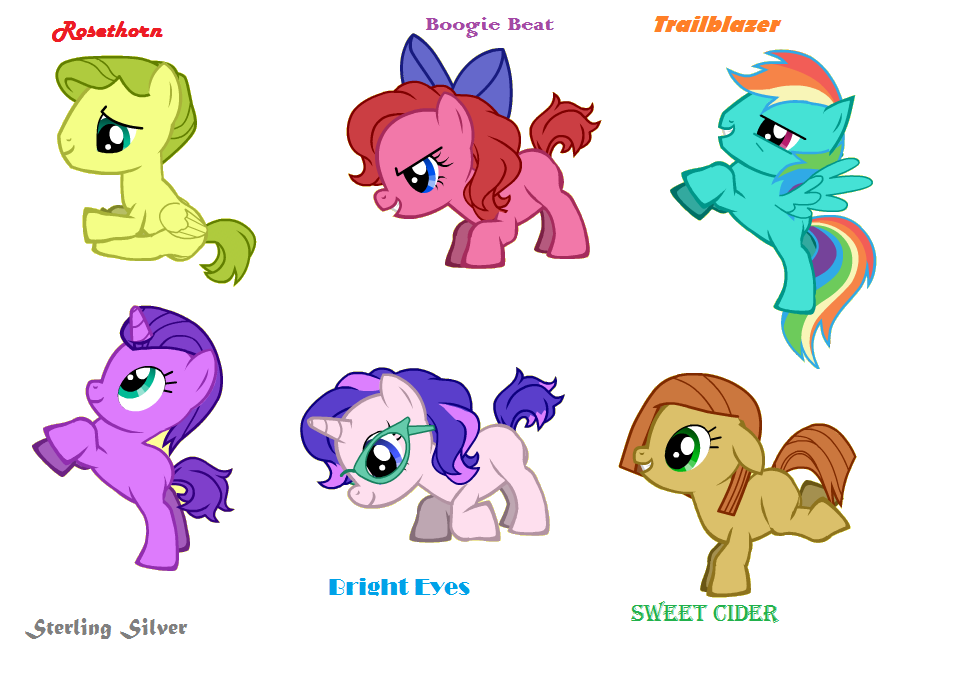 foals of the mane six pony creator by mightymewtron on deviantart
