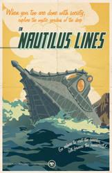 Nautilus Lines travel poster