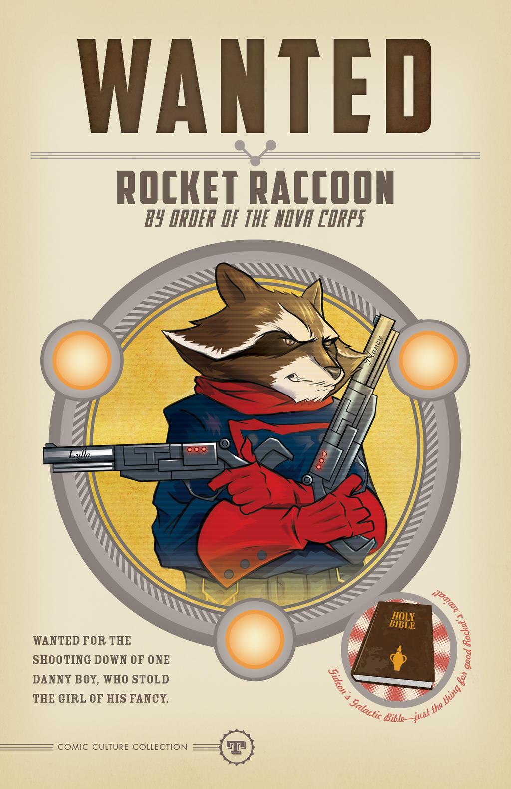 Rocket Raccoon WANTED by seanwthornton