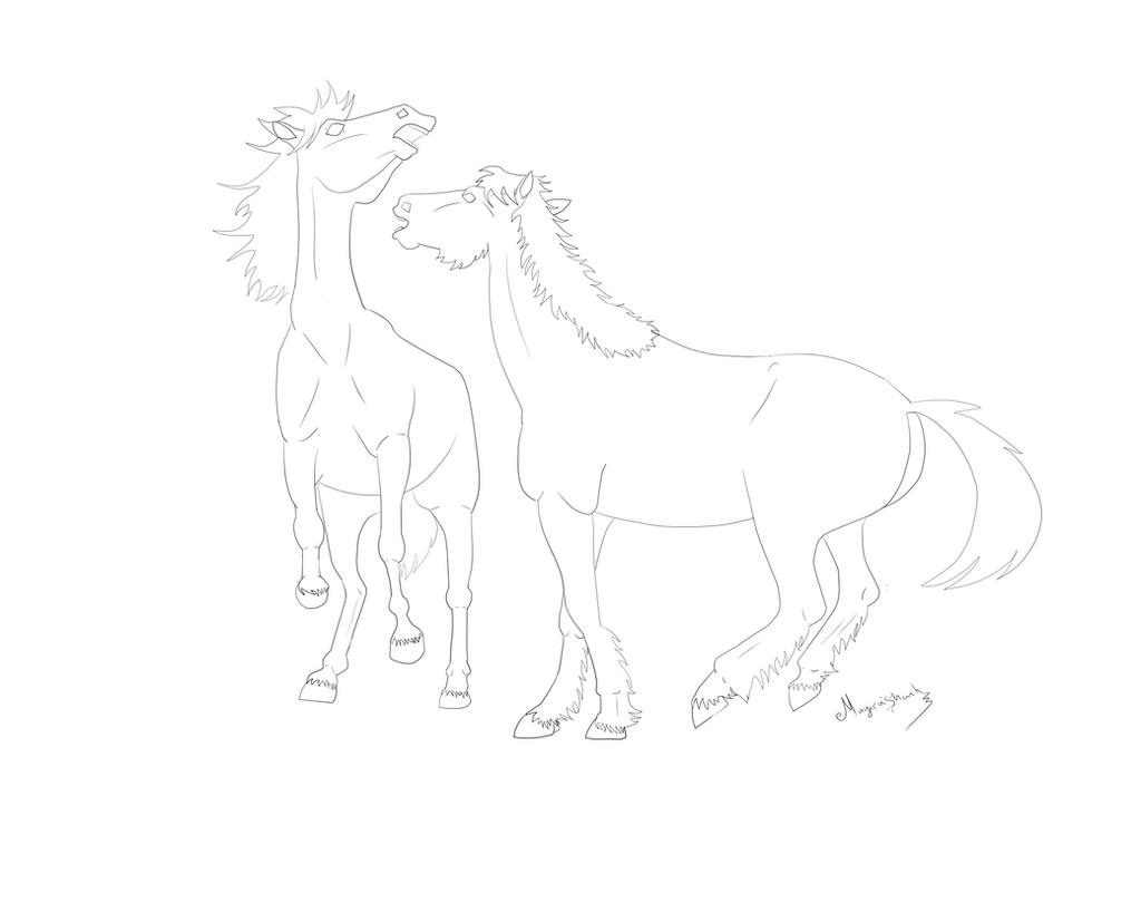 WIP - playing horses by MagicaShark