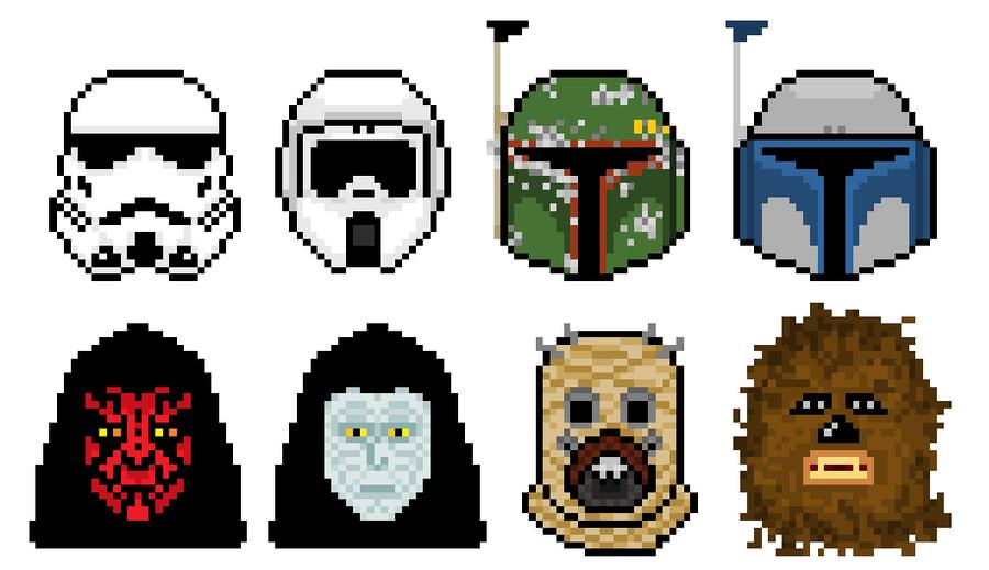 Star Wars Pixel Art Grid