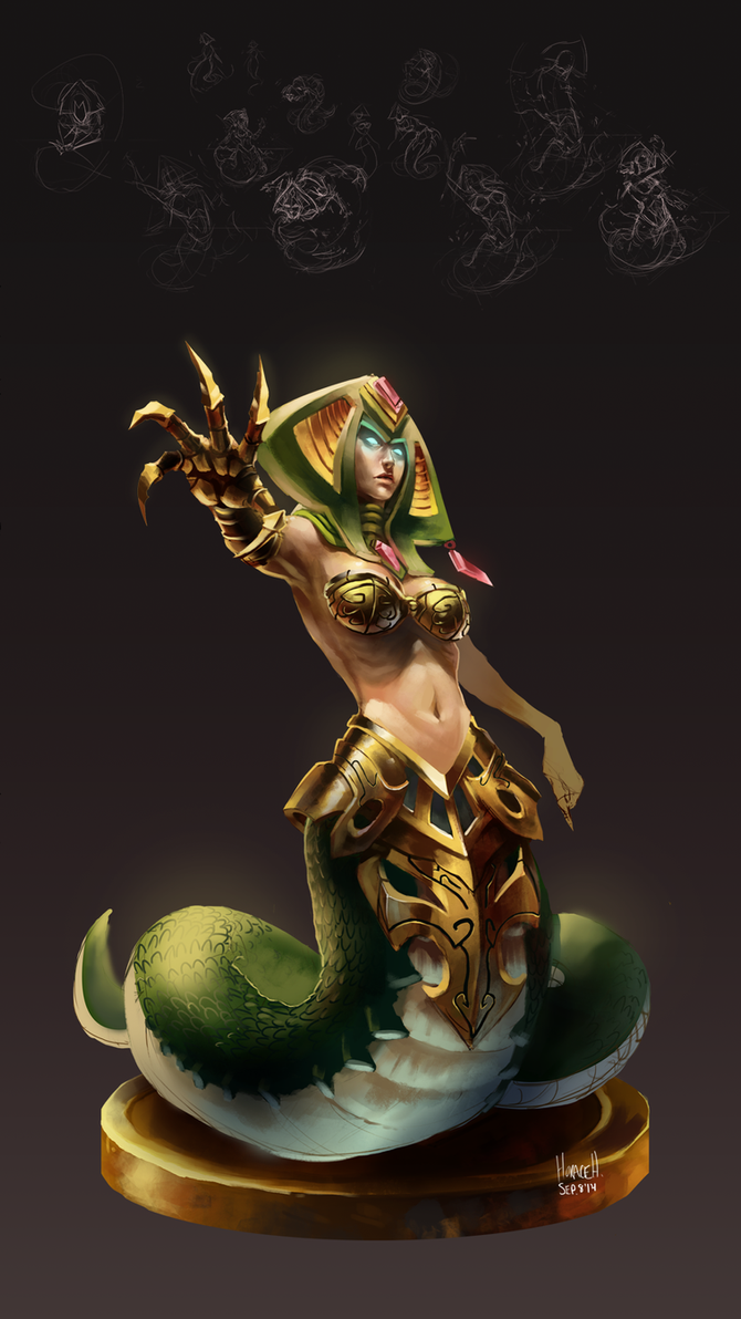 13-2 Cassiopeia, the Serpent's Embrace by Skence