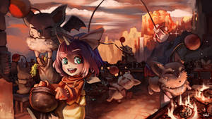 Updated - Eiko and her Moogles by Hozure