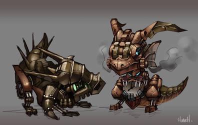 Steampunk Baby Dragons