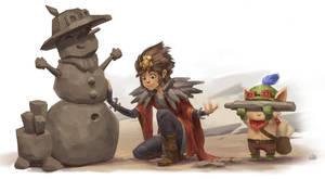 Taliyah meets Teemo by Hozure