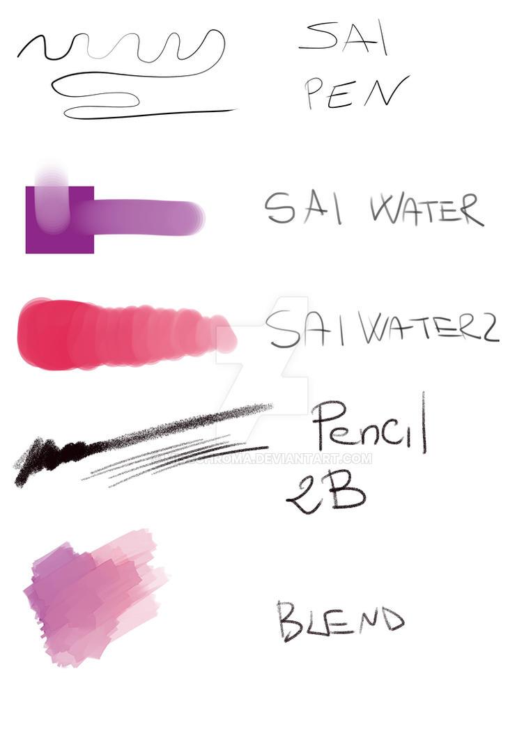 SAI brushes for Manga Studio5/Clip Studio Paint by MissChroma