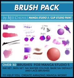 Brush Pack for Manga Studio 5 or CLIP