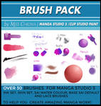 Brush Pack for Manga Studio 5 or CLIP