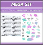 Mega Set DIGITAL BRUSHES for Manga Studio5