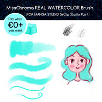 Real Watercolor Brush for Manga Studio 5 by MissChroma