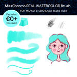 Real Watercolor Brush for Manga Studio 5