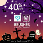 40%Sales Brushes Manga Studio 5/Clip Studio Paint by MissChroma