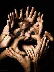 face of hands by blucatt4ever
