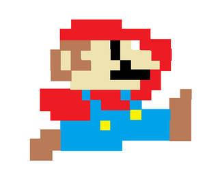8-bit Mario by blucatt4ever
