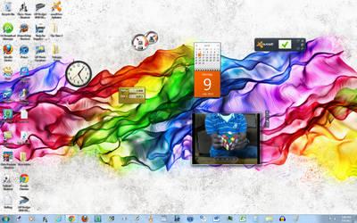 My desktop by blucatt4ever