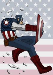 Captain America by kaneburton