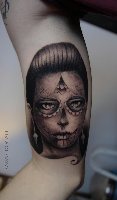 Sugar skull girl by Moviemetal3