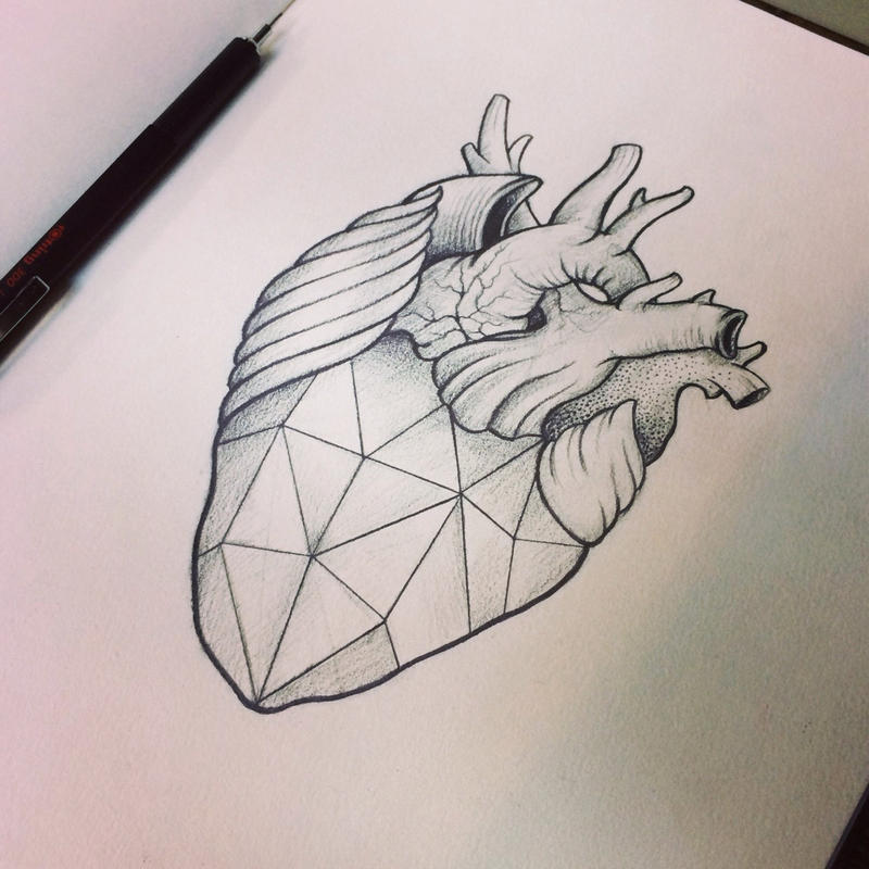 If someone can draw a geometric skull heart that is essentially a