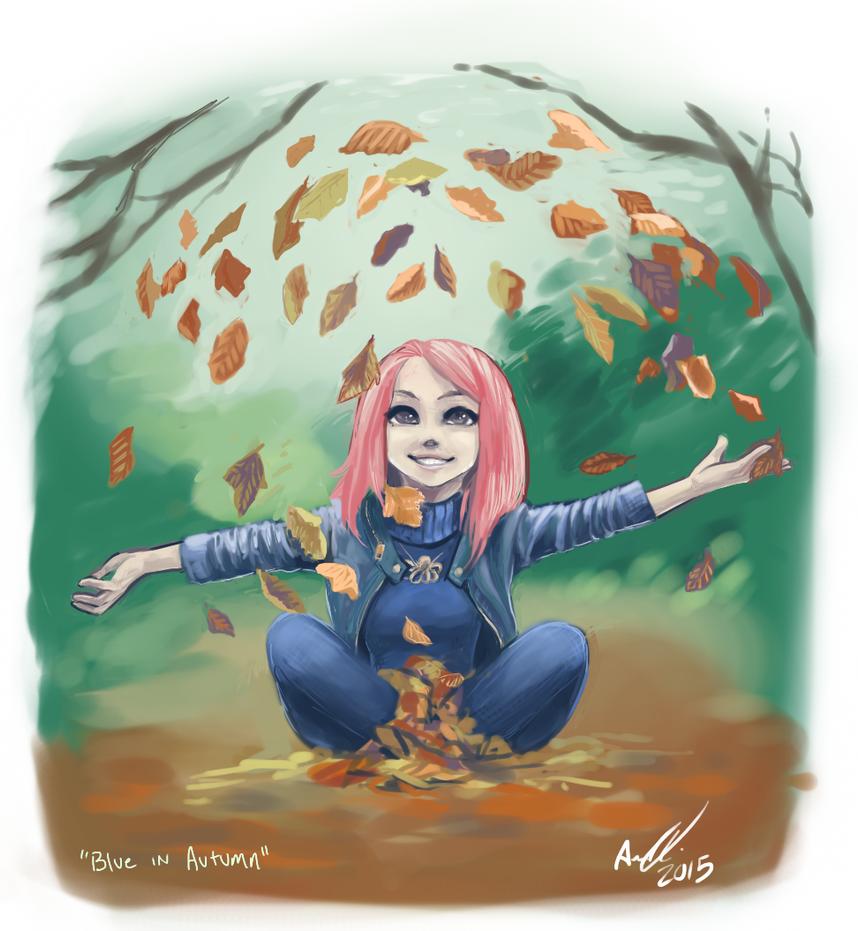 Blue in Autumn - RGD by AnneDyari
