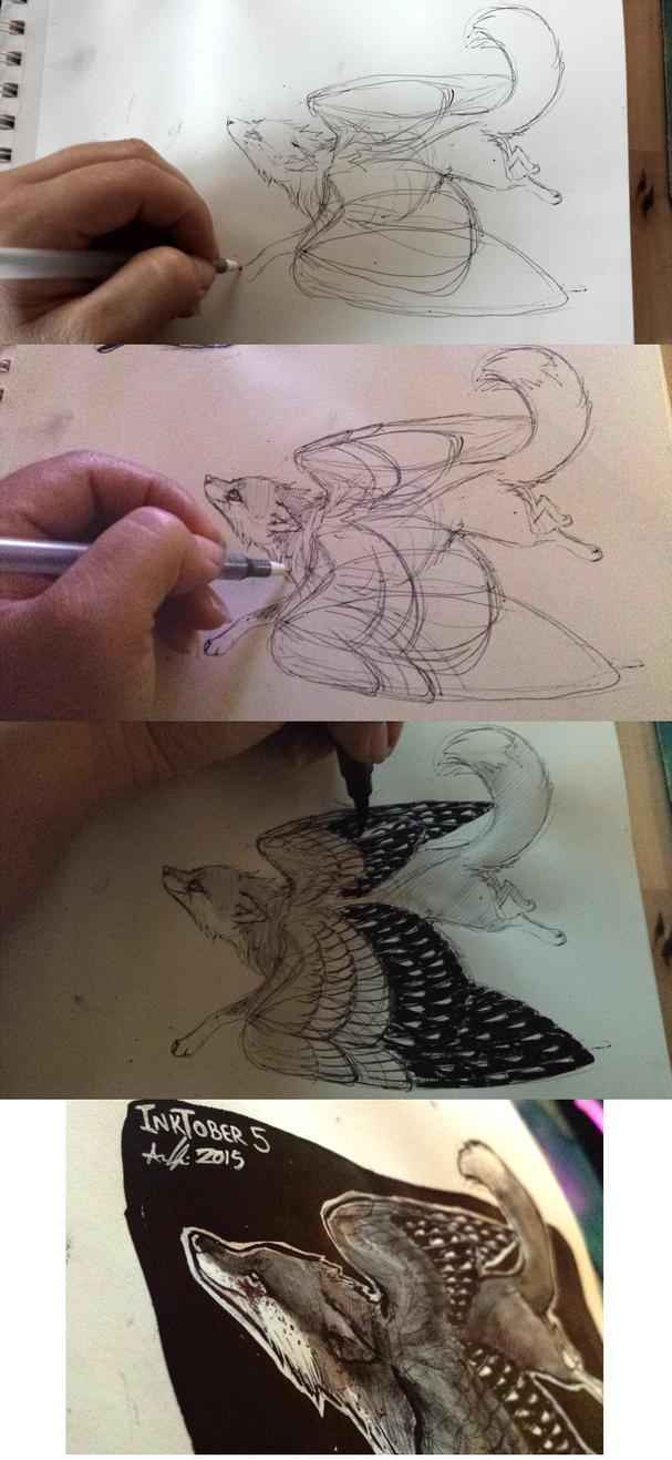 Fly: Inktober 5 progress by AnneDyari