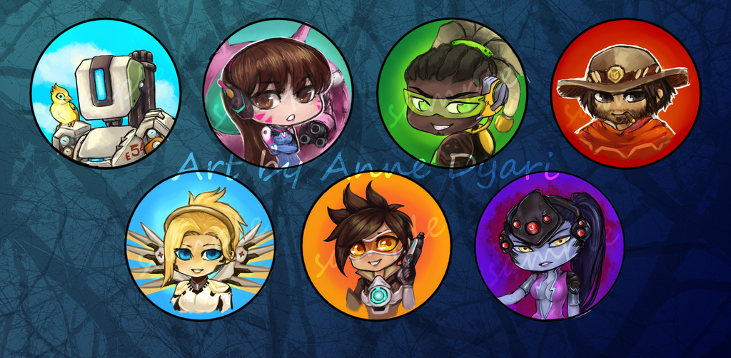 Overwatch Pins (vote in comments!) by AnneDyari