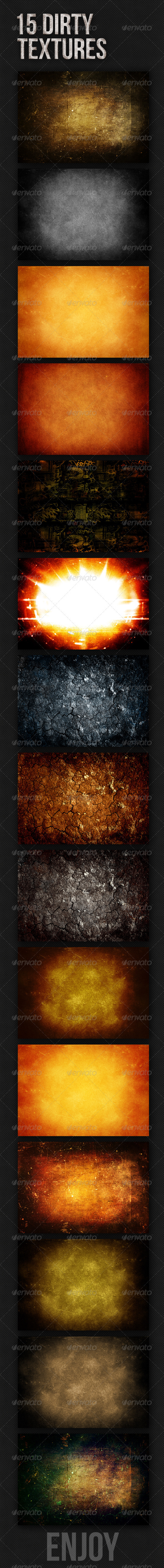 15 Dirty Textures by MikiMikibo