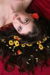 Flower haired girl