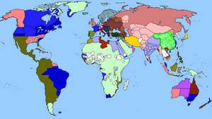 World Map - 1864